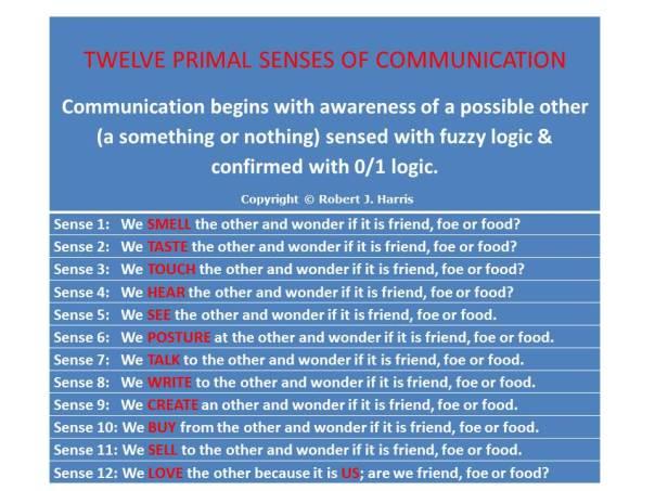 12 Senses Chart